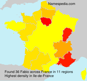 Surname Fabio in France