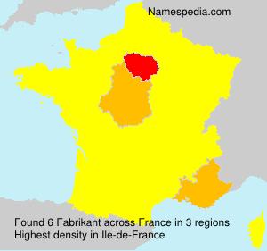 Familiennamen Fabrikant - France