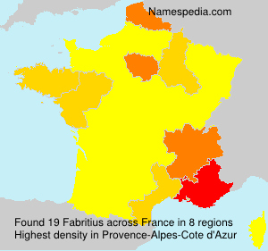 Surname Fabritius in France