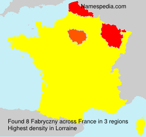 Surname Fabryczny in France