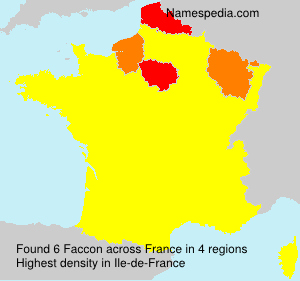 Surname Faccon in France