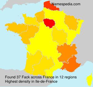 Surname Fack in France