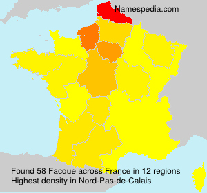 Surname Facque in France