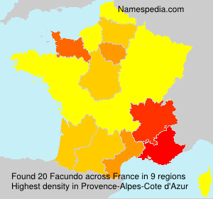 Surname Facundo in France