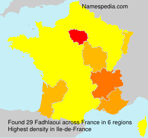 Surname Fadhlaoui in France