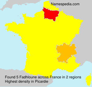 Surname Fadhloune in France