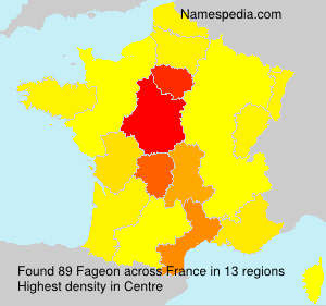 Surname Fageon in France
