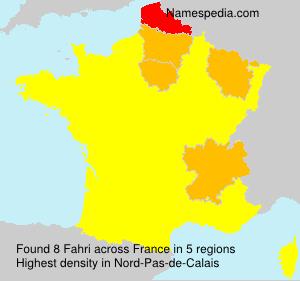 Surname Fahri in France