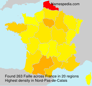 Surname Faille in France