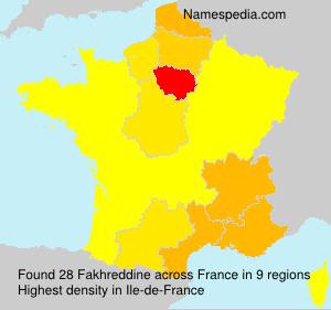 Surname Fakhreddine in France