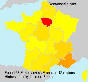 Familiennamen Fakhri - France