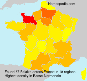 Surname Falaize in France