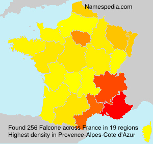 Surname Falcone in France