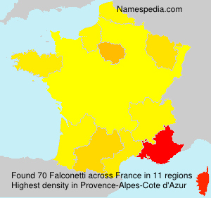 Surname Falconetti in France