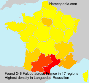 Surname Falcou in France