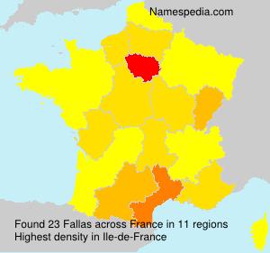 Surname Fallas in France