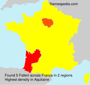 Surname Fallert in France