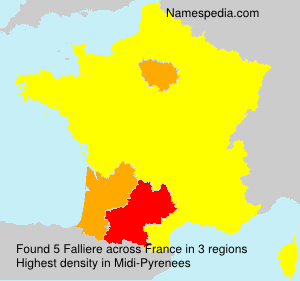 Surname Falliere in France