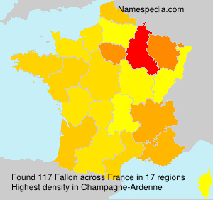 Surname Fallon in France