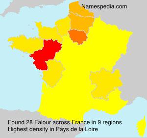 Surname Falour in France