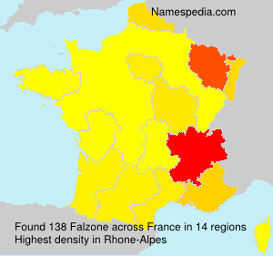 Familiennamen Falzone - France
