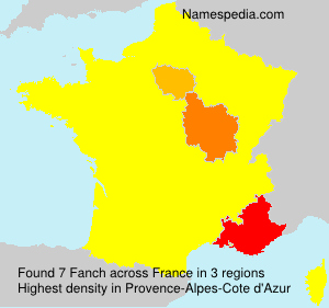 Surname Fanch in France