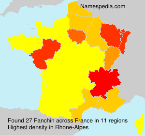 Surname Fanchin in France