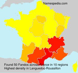 Familiennamen Fandos - France