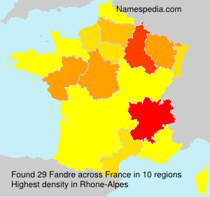 Surname Fandre in France