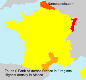 Surname Fanizza in France