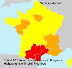 Surname Fanjeau in France