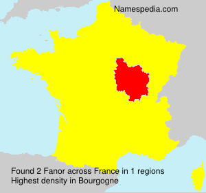 Surname Fanor in France