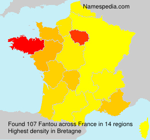 Surname Fantou in France