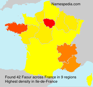 Surname Faour in France