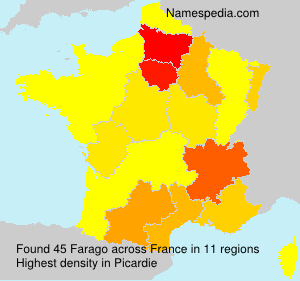 Surname Farago in France