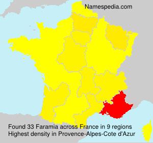 Familiennamen Faramia - France