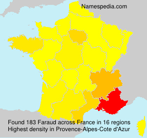 Surname Faraud in France