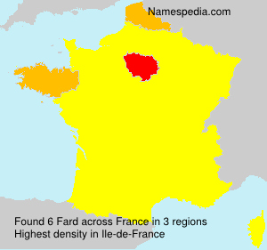 Surname Fard in France