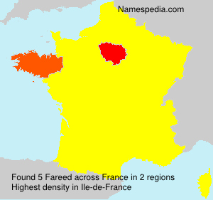 Surname Fareed in France