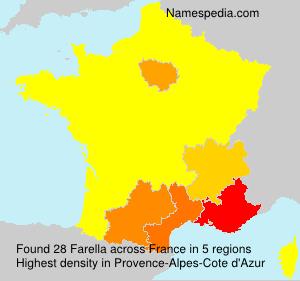 Surname Farella in France