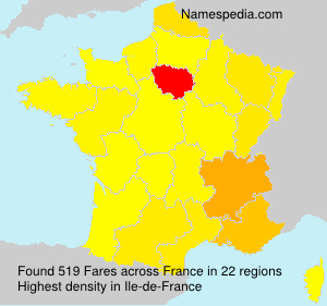 Surname Fares in France