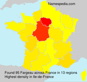 Surname Fargeau in France