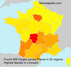 Surname Farges in France