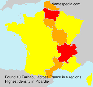 Surname Farhaoui in France
