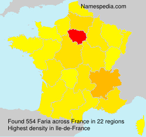 Surname Faria in France