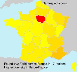Surname Farid in France