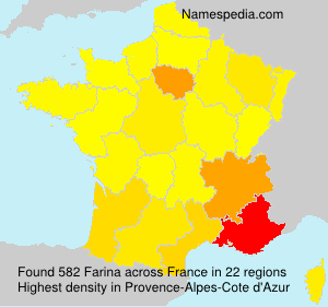 Surname Farina in France