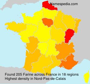 Surname Farine in France