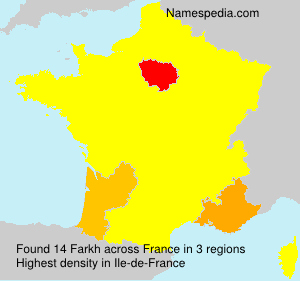 Surname Farkh in France