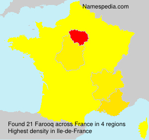 Surname Farooq in France